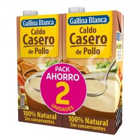 Caldo casero de pollo Gallina Blanca pack de 2 briks de 1 l.