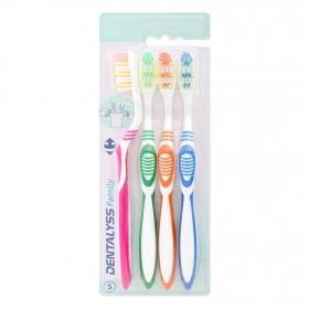Cepillo dental suave Carrefour 4 ud.