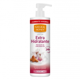 Loción corporal hidratante para piel normal y seca Natural Honey 700 ml.