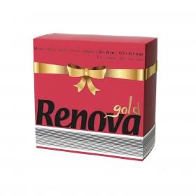 Set de 40 Servilletas  2 capas de Celulosa RENOVA Gold 40pz - Rojo