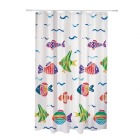 Cortina Baño CARREFOUR Peces 180x200 cm - Decorado