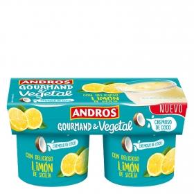 Preparado de coco cremoso con limón Andros pack de 2 unidades de 120 g.