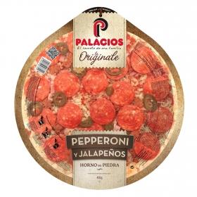 Pizza pepperoni y jalapeños La Originale Palacios 400 g.