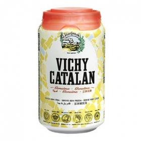 Agua mineral Vichy Catalán natural con gas lata 33 cl.
