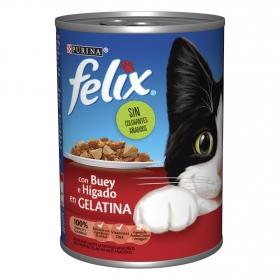 Purina Felix Comida Húmeda para Gato Gelatina Buey e Hígado 400g
