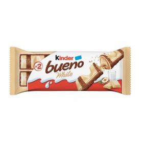 Barrita de chocolate blanco relleno de crema de avellanas Kinder Bueno 2 ud.
