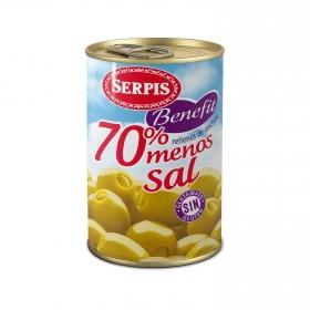 Aceitunas verdes rellenas de anchoa Serpis 130 g.