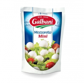 Queso mozzarella  20 Mini Galbani 150 g.