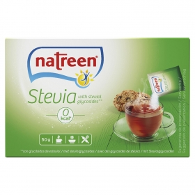 Edulcorante Stevia granulado en sobres Natreen 50 ud.