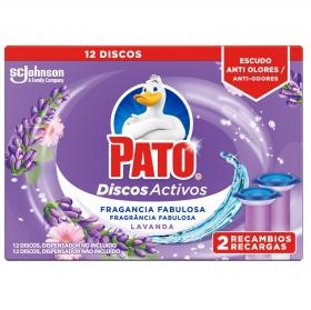 Discos activos inodoros aroma lavanda recambio Pato 2 ud.