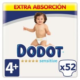 Pañales Dodot Sensitive extra absorción T4 (10kg-15kg.) 52 ud.