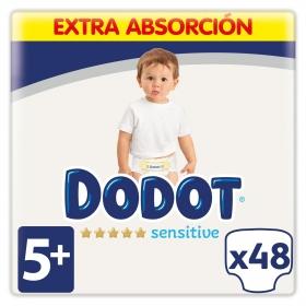 Pañales Dodot Sensitive extra absorción T5 (12kg-17kg.) 48 ud.