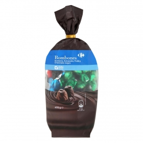 Bombones de avellana, almendra, trufa y chocolate negro Carrefour 470 g.