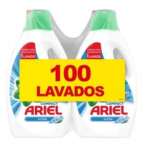 Detergente líquido Alpine Ariel pack de 2 unidades de 50 lavados.