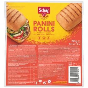 Pancillos para hornear Pannini Rolls Schar sin gluten y sin lactosa 225 g.