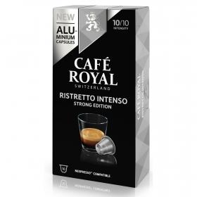Café ristretto intenso en cápsulas Royal compatible con Nespresso 10 unidades de 5,3 g.