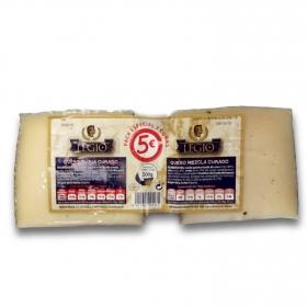 Cuña de queso mezcla curado + cuña curado de oveja Iberpal bipack 2x250, 500 g