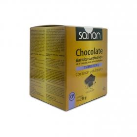 Batidos de chocolate sustitutivos Sanon 7 ud.