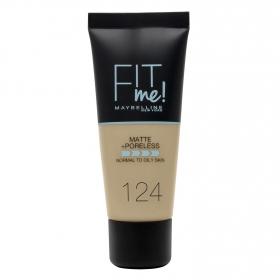 Base de maquillaje nº 124 Fit Me! Maybelline 1 ud.