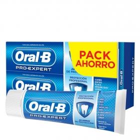Dentífrico Pro-Expert Multi-Protección Menta Fresca Oral-B pack de 2 unidades de 75 ml.