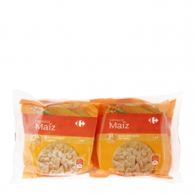 Tortitas de maíz Carrefour pack de 4 unidades de 33 g.