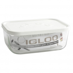 Contenedor Rectangular de Vidrio HOME STYLE Igloo 1,3 L