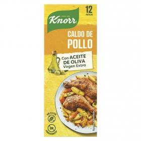 Caldo de pollo Knorr sin gluten 12 pastillas.