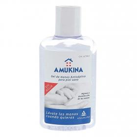 Gel de manos antiséptico para piel sana sin agua Amukina 80 ml.
