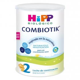Leche 2 de continuación ecológica Combiotik Hipp 800 g.
