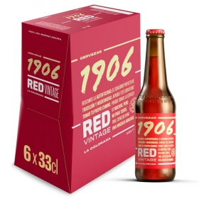 Cerveza 1906 Red Vintage La Colorada pack de 6 botellas de 33 cl.