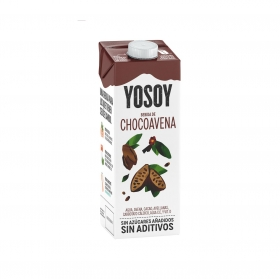 Bebida de avena y chocolate sin azúcar añadido YoSoy brik 1 l.