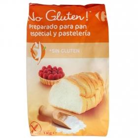 Harina para pan y pastelería Carrefour No Gluten sin gluten 1 kg.