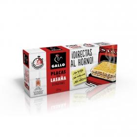Placas para lasaña extrafinas Gallo 224 g.