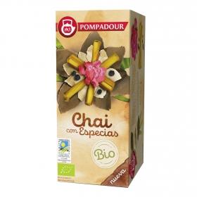 Té Chai con especias en bolsitas ecológico Pompadour 18 ud.