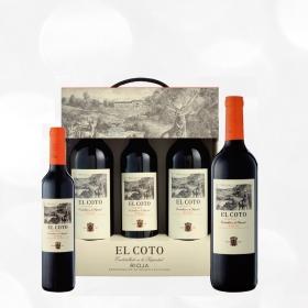 LOTE 75: 2 botellas D.O. Ca. Rioja El Coto tinto crianza 75 cl. + 1 botella D.O. Ca. Rioja El Coto tinto crianza 50 cl.