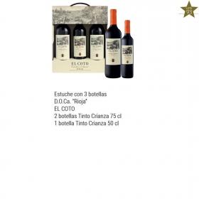 Estuche 3 Botellas (2 Bot. 75 Cl + 1 Bot. 50 Cl.) El Coto Tinto