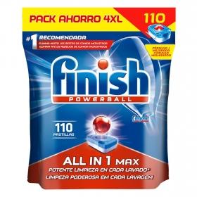 Lavavajillas máquina Todo en 1 en pastillas Calgonit Finish 110 ud.