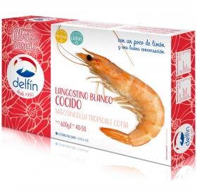 Langostino cocido blanco 40/50 Delfín 600 g.