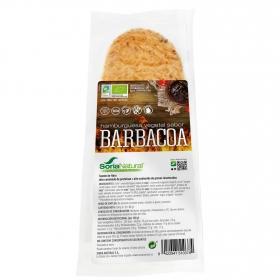 Hamburguesa vegetal sabor barbacoa ecológica Soria Natural sin gluten y sin lactosa pack 2 unidades de 80 g.
