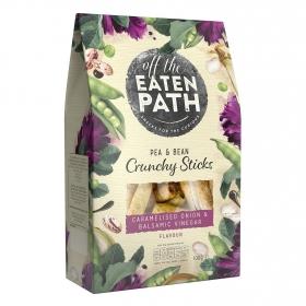 Palitos de alubias y guisantes con cebolla caramelizada y vinagre balsámico Eaten Path 100 g.