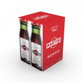 Vermut Martini rojo pack de 4 botellas de 6 cl.