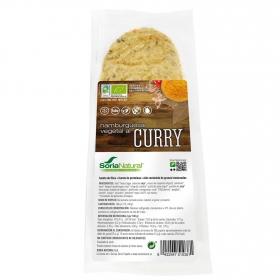Hamburguesa vegetal al curry ecológica Soria Natural sin gluten y sin lactosa pack 2 unidades de 80 g.