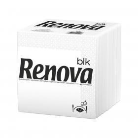 Set de Servilletas  2 capas de Celulosa RENOVA Cocktail 90pz - Blancas