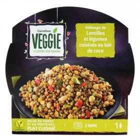 Mélange de lentejas y légumes Carrefour Veggie 300 g.