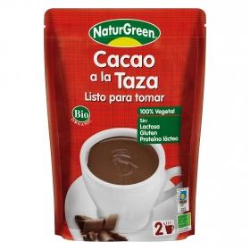 Cacao a la taza en polvo ecológico Naturgreen sin gluten y sin lactosa 330 ml.
