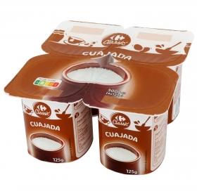 Cuajada Carrefour pack de 4 unidades de 125 g.