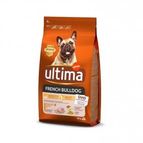 Pienso de pollo y arroz para perro Buldog Francés Ultima 1,5 Kg.