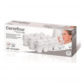 Filtros de Agua con Microparticulas CARREFOUR HOME 6 ud - Blanco