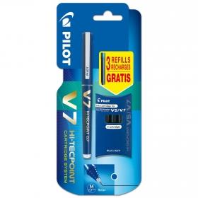 Rotulador Tinta Líquida V-7 Recargable Azul