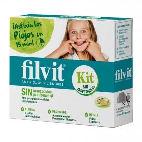 Kit Dimeticona antipiojos y liendres Filvit 1 ud.